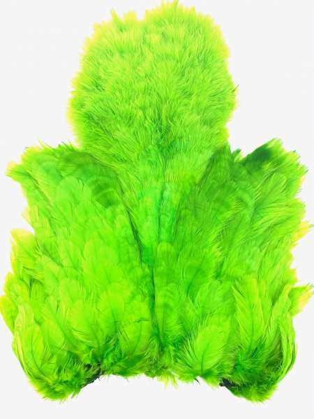 FlyOnly Fluo Green Soft Hackle Patch